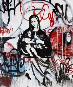 Image: [Yun] graffiti art is about cool deals, Blek Le Rat (Breck le rat) - NAVER Summary Best Street Art, Amazing Street Art, Graffiti Murals, Street Art Graffiti, Banksy, Blek Le Rat, Anime Wolf Girl, Abstract Portrait, Art For Art Sake