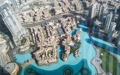 Amazing view from Burj Khalifa in Dubai...
