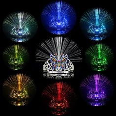 Color Changing LED Butterfly Crown Flashing Fiber Headwear-1.72 and Free Shipping  GearBest.com