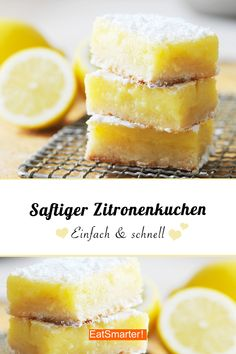 Fast schon ein Zauberkuchen so einfach ist dieser saftige Zitronenkuchen! Den m… Almost a magic cake so easy is this juicy lemon cake! You have to try that! Easy Cake Recipes, Snack Recipes, Dessert Recipes, Snacks, Smoothie Recipes, Vegetarian Recipes, Food Cakes, Cakes Originales, New Cake