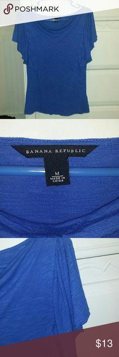Banana Republic top 100 % rayon very comfortable beautiful blue Banana Republic Tops Blouses
