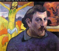 Christus aan het Kruis. Zelfportret Gauguin met Gele Christus (1890)