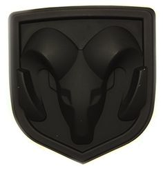 New Matte Black Ram Head Emblem Replace OEM Mopar Dodge Ram Charger Challenger 68082011AA. For product info go to:  https://www.caraccessoriesonlinemarket.com/new-matte-black-ram-head-emblem-replace-oem-mopar-dodge-ram-charger-challenger-68082011aa/