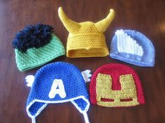 Avengers Hats | 29 Unbelievably Cool Things You Can Crochet For A Baby