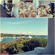 Suggestive collage of a wedding ceremony in Porto Cervo Blog Sara Events | Wedding Planner Sardegna