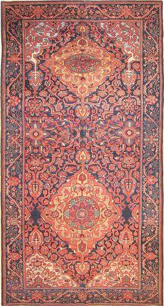 "Antique Bakhtiari Persian Rug, Size (7'1"" x 12'6"")"