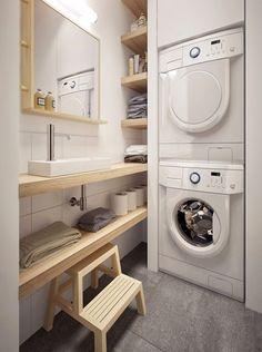 Zonas de lavado y planchado en aseos
