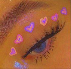 Essa make e difi de fazer Cute Makeup Looks, Makeup Eye Looks, Eye Makeup Art, Pretty Makeup, Purple Makeup, Mua Makeup, Makeup Eyes, Eyeshadow Makeup, Aesthetic Eyes