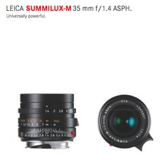 Wide Anlge Lens: #LEICA SUMMILUX-M 35 mm f/1.4 ASPH