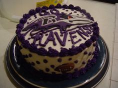 Pleasing 30 Best Baltimore Ravens Cakes Images Baltimore Ravens Birthday Cards Printable Opercafe Filternl