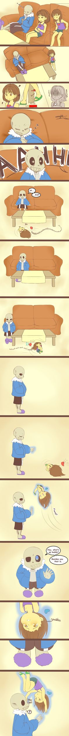 Frisk understands Sans a little better now. C'mon Frisk, no need to pitty him, he is well prepared. Inspired on this (plus the fact that I recently bumped my finger in the edge of bed and . Undertale Undertale, Toby Fox, Chibi, Underswap, Fan Art, The Villain, Anime, Funny Comics, Nerdy