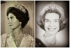 Queen Frederika using the tiara as a necklace; Princess Irene using it as a tiara The Royal Order of Sartorial Splendor: Tiara Thursday