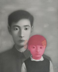 Zhang Xiaogang (張曉剛; b1958, Kunming, China)