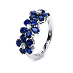 "Flower  ""A blue sapphire can transform negative thoughts and energy into positive ones."" https://www.udozzo.com/collections/sapphire/products/flower-2?utm_content=buffer400d4&utm_medium=social&utm_source=pinterest.com&utm_campaign=buffer #udozzo #finejewelry #sapphire #ring #blue #showmeyourrings #statementring #flower #flowerjewellery"