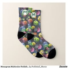 Monogram Multicolor Pickleball Socks
