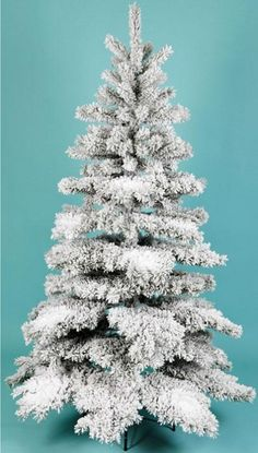 Flocked Pine Christmas Tree by Artificial Images #Christmas #trees