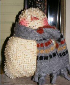 Ol' Snowman-primitive snowman, folk art snow man, Christmas, Creative Living with Sheryl Borden project, epatter
