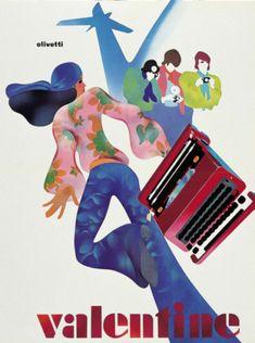 designed by Egidio Bonfante for the Olivetti Valentine - 1970