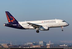 Brussels Airlines Sukhoi Superjet 100 EI-FWD on final approach to Brussels-National, November (Photo: Matteo Lamberts) Sukhoi Superjet 100, Air Lines, Brussels, Belgium, Aviation, The 100, Aircraft, November, November Born