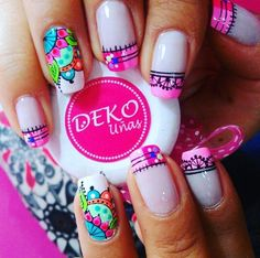 New Manicure Mandalas Paso A Paso Ideas French Manicure Gel, French Nails, No Chip Manicure, Gel Manicure, Pedicure, Almond Nail Art, Manicure Colors, Chic Nails, Nail Art Videos
