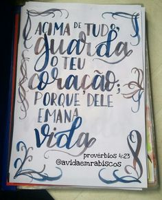Lettering provérbios 4:23