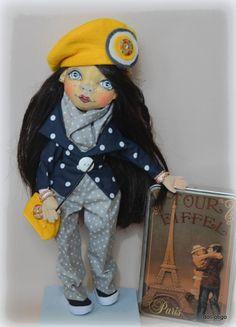 Spomienky na Paríž:) Krásna Parížanka! Autorka: otigo. Bábiky a hračky, autorská bábika. Artmama.sk