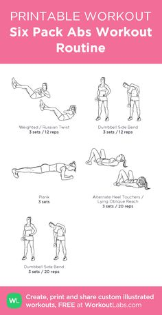 Six Pack Abs Workout Routine– my custom exercise plan created at WorkoutLabs.c… Six Pack Abs Workout Routine– my custom exercise plan created at WorkoutLabs.c… – Fitness & Body Forming – Sixpack Abs Workout, Abs Workout Routines, Abs Workout For Women, Workout Plans, Work Out Routines Gym, Shoulder Workout Women, Barbell Workout For Women, Workout Challange, Gym Workouts Women