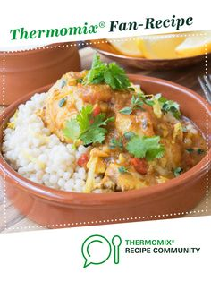 Recipe Syrian Chicken with Israeli Couscous by Thermo Nutritionist, learn to make this recipe easily in your kitchen machine and discover other Thermomix recipes in Main dishes - meat. Meat Recipes, Chicken Recipes, Dinner Recipes, Bellini Recipe, Recipe Community, Food N, Asian, Couscous, Chicken