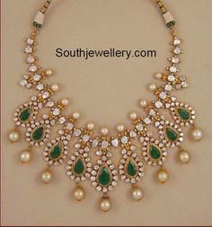 Polki Diamond Pacchi Necklace - jewelry and accessories, jewelry jewelry jewelry, online shop for jewellery *ad Indian Wedding Jewelry, Indian Jewelry, Bridal Jewelry, Diamond Pendant Necklace, Diamond Jewelry, Gold Jewelry, Jewlery, Diamond Choker, Cartier Jewelry