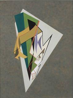 1956 - Domela, César - Unitled , -  gouache on paper - 66 x 50,5 cm.