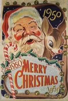 Vintage Christmas Cards, Merry Christmas, Christmas Ornaments, Best Seasons, Santa, Retro, Holiday Decor, Merry Little Christmas, Christmas Jewelry
