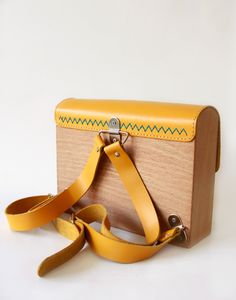 GRAV GRAV - Wooden Yellow Kids Backpack #gravgravco #backpack #kids…
