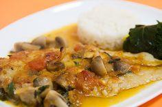 Filetes de Peixe no Forno com Cogumelos | SaborIntenso.com