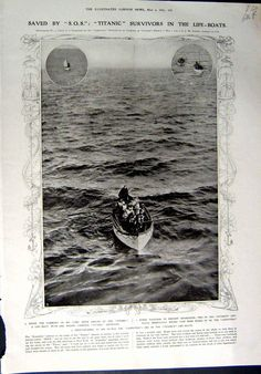 Saved by S.O.S : Titanic survivors in the Life-Boats 4 Mayo 1912