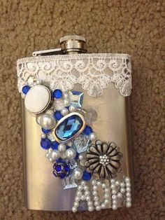 Sorority Flask  Alpha Delta Pi by Wrapunzels on Etsy, $30.00