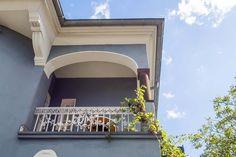Balkon-Detail einer Gründerzeit-Villa in Hilden (Kreis Mettmann) Villa, Planer, Mansions, Detail, Architecture, House Styles, Home Decor, Real Estates, Art Nouveau