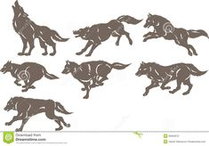 WOLF RUNNING SILHOUETTE - Ask.com Image Search