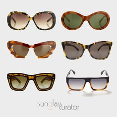 Tortoiseshell is a great way to incorporate colour into your outfit in a more understated way. Available at #SunglassCurator.com
