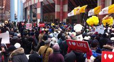Pro-Life Crowds Doub