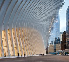 World Trade Center Transportation Hub Oculus by Santiago Calatrava
