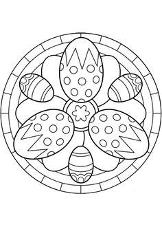 Kleurplaat Mandala kleurplaten (5258) | paaseieren