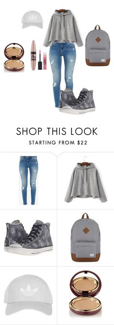 """""""Back to School Collection #2"""" by mixedprincess1234 on Polyvore featuring Ted Baker, Converse, Herschel Supply Co., Topshop, Wander Beauty and Maybelline"""