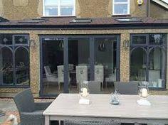 Image result for bifold doors into garden Patio Doors, Mirror, Garden, Outdoor Decor, Image, Home Decor, Garten, Decoration Home, Room Decor