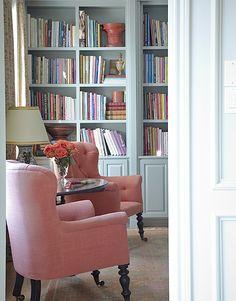 Interior designer Carol Glasser's Houston home. Photograph by Fran Brennan, more details via Cote De Texas]  love these chairs