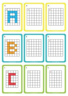 Déplacement dans un Quadrillage GS CP Reproduire les Lettres Preschool Education, Preschool Learning Activities, Language Activities, Free Printable Puzzles, Pix Art, Busy Boxes, Coding For Kids, Cute Coloring Pages, Home Schooling