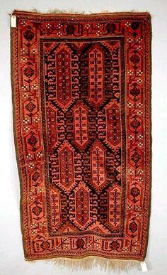 Baluch Rugs Tribal Rugs Oriental Rugs Kashmar Rugs: Khorasan Baluch Rug C. 1900-20 lot 329 W&W