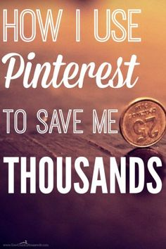 The best way to save money using Pinterest. She saved her family thousands of dollars using Pinterest. She shares the Top 30 frugal pinners to…