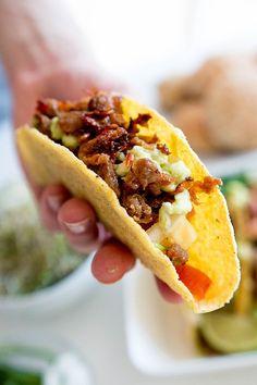 Testissä Nyhtökaura: Vegaaniset tacot & freesi limesalsa