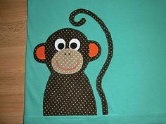 T-Shirt-mit-Affe-Applikation-von-mir-benaeht-Gr-104-110-Dawanda-selfmade-handmade