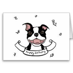 Happy Birthdaydogs | happy birthday boston terrier card shows a happy boston terrier ...
